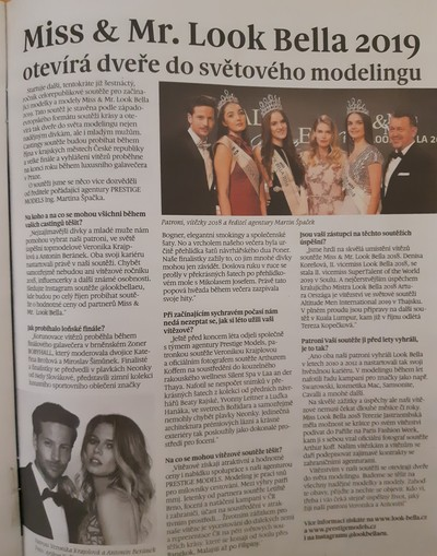 Rozhovor s ředitelem Martinem Špačkem o dalším ročníku Miss & Mr. Look Bella 2019 v Deníku