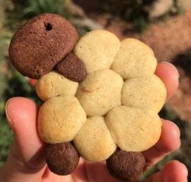 Ovečkové sušenky z lineckého těsta