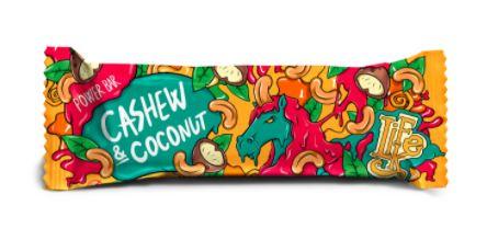 tyčinka Power Bar Cashew Coconut LIFELIKE 50 g