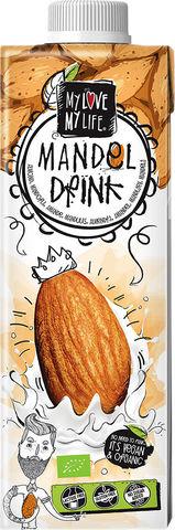 Bio mandlový nápoj neslazený My Love My Life 750 ml