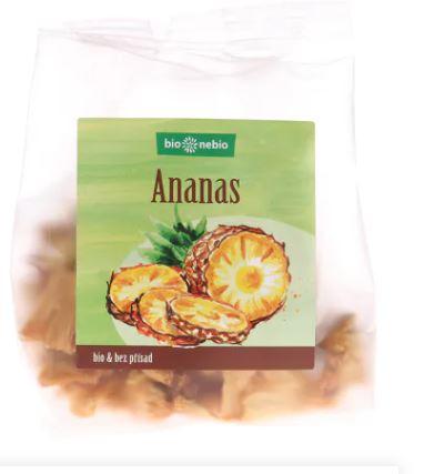Bio sušený ananas kousky bio*nebio 80 g