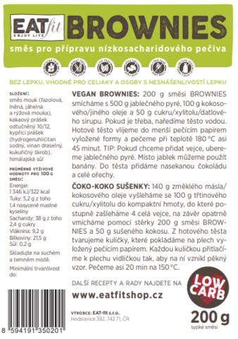 bezlepková směs BROWNIES - PROTOTYP