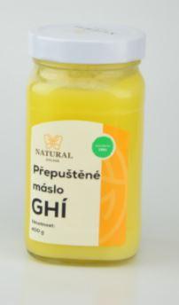 přepuštěné máslo GHÍ NATURAL 400 g