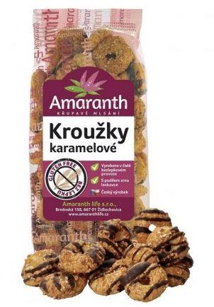 mega sváča karamelové kroužky AMARANTH 100 g
