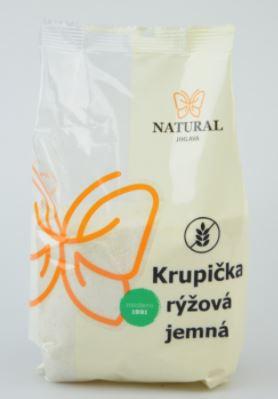 krupice rýžová jemná NATURAL 500 G