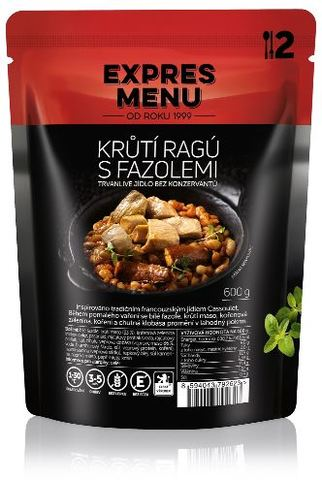 Krůtí ragů s fazolemi EXPRES MENU 600 g