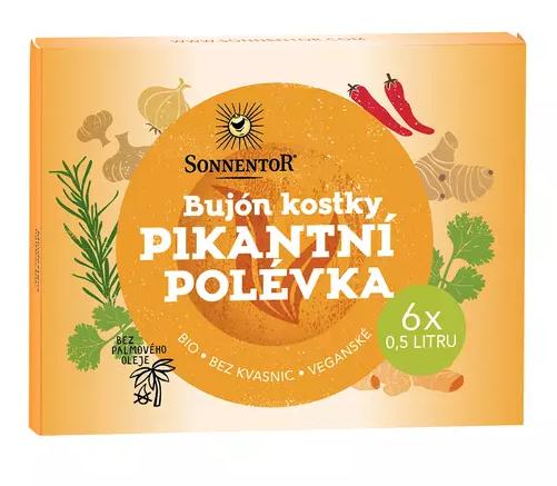 bujónové kostky PIKANTNÍ polévka SONNENTOR bio 6 * 0,5 l