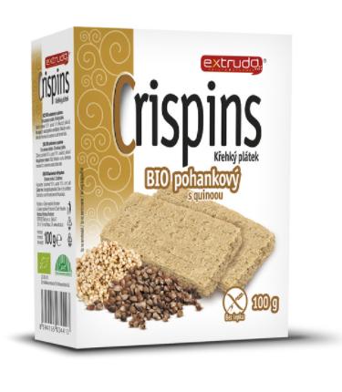 křehký plátek CRISPIN pohankový s quinoou 100 g