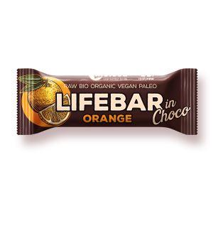 tyčinka LIFEBAR InChoco Pomeranč BIO 40 g DMT 9/2021