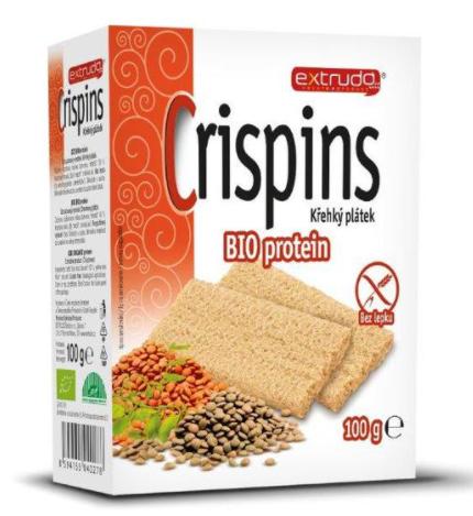 křehký plátek CRISPIN proteinový BIO 100 g
