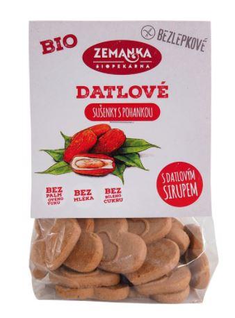 Bezlepkové pohankovo-datlové sušenky Bio 100g