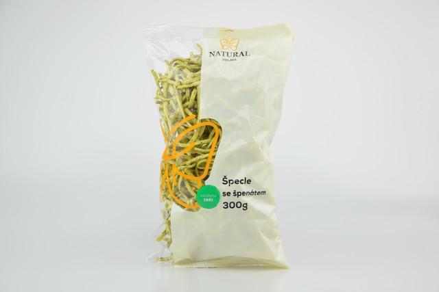 Těstoviny špecle se špenátem - Natural 300g