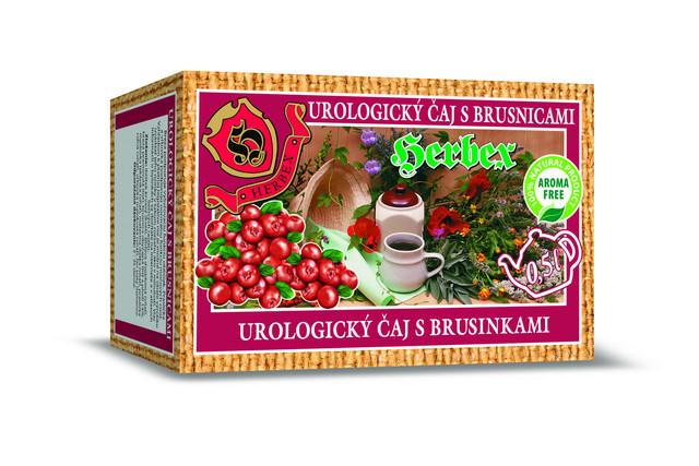 Čaj urologický s brusinkami - Herbex 20x3g
