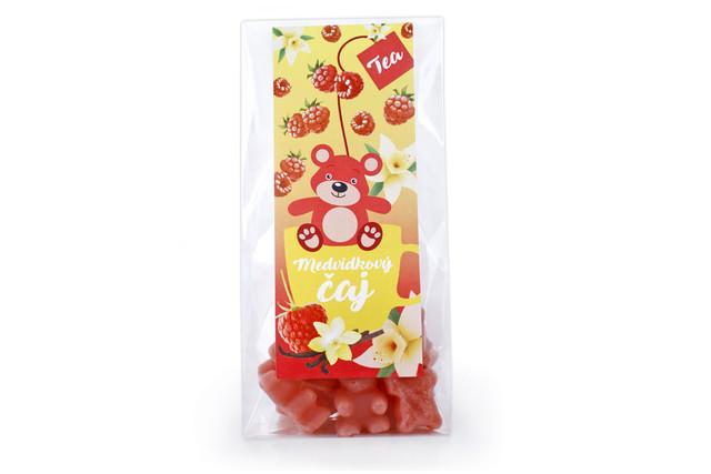 Čaj medvídkový s příchutí maliny a vanilky - Lipoo 50g