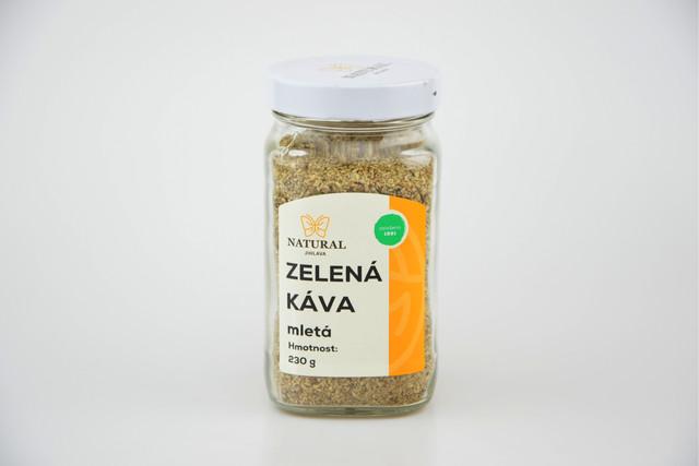 Káva zelená mletá - Natural 230g